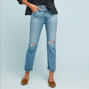 NWT AG The Isabelle Ultra High-Rise Straight Jeans